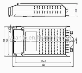PLC 2X26 plastic ballast box