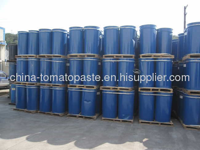 220 liters Drum packing in aseptic bag in iron drum packing tomato paste