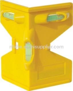 Magnetic Post Hole Level mini plastic level