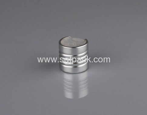 Aluminum disc top cap 24/410 screw cap shiny silver or shiny gold color cosmetic package inner pp cap