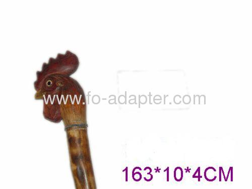 Long Cock Shape Wooden Walking Stick