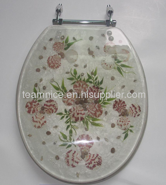 Polyresin Toilet Seat Cover Seashell Toilet Seats Products
