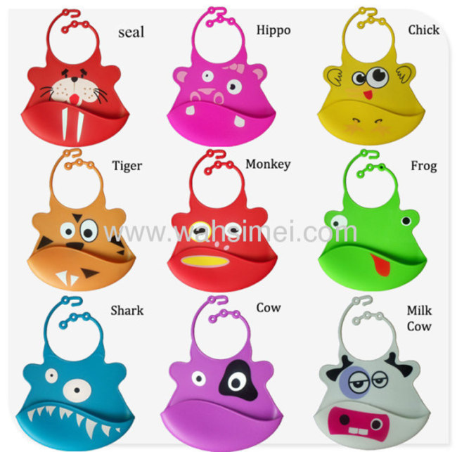 Silicone Baby Bibs with lovely printing design
