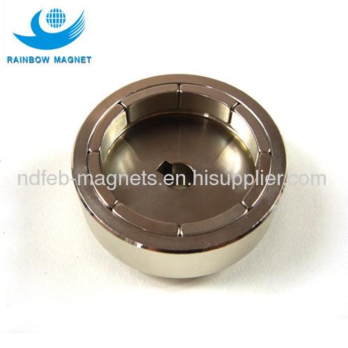 Electric motor part for vacuum pump