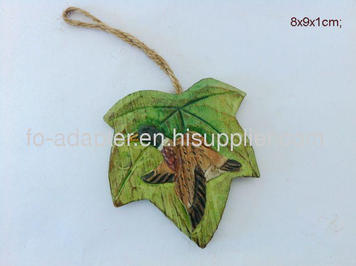 leaf shape christmas tree hanging ornament
