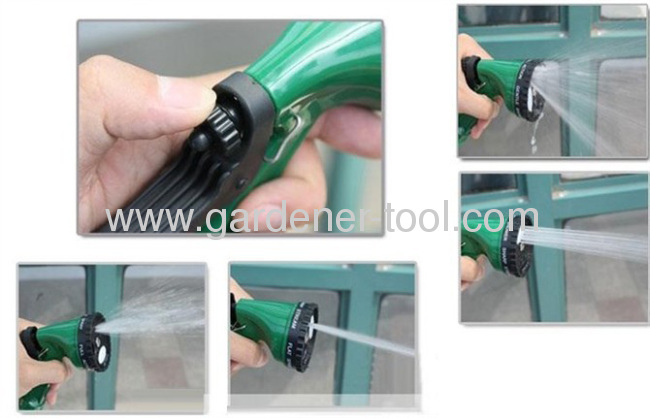 4-Dial Function Plastic Garden Hose Nozzle For Garden Water,Car Washing