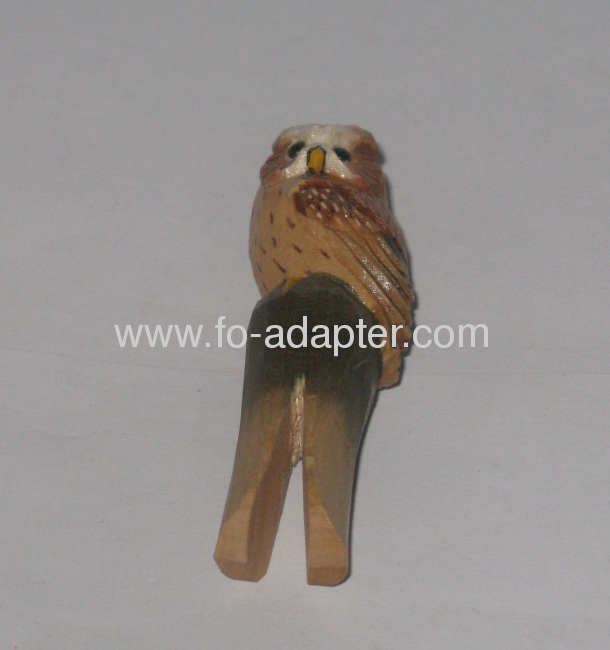 Vivid Wooden Carved Animal Clip