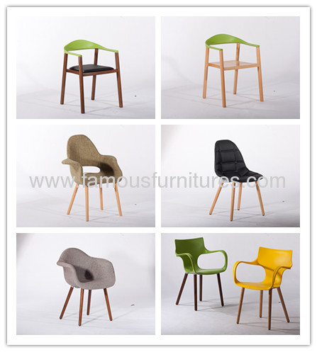 Black Indoor Eames Armchair with Wooden Base Office dining room furniture chairs sale