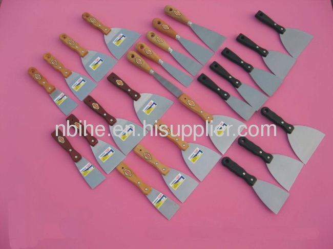 High quality putty knife scraper paint with wooden handle