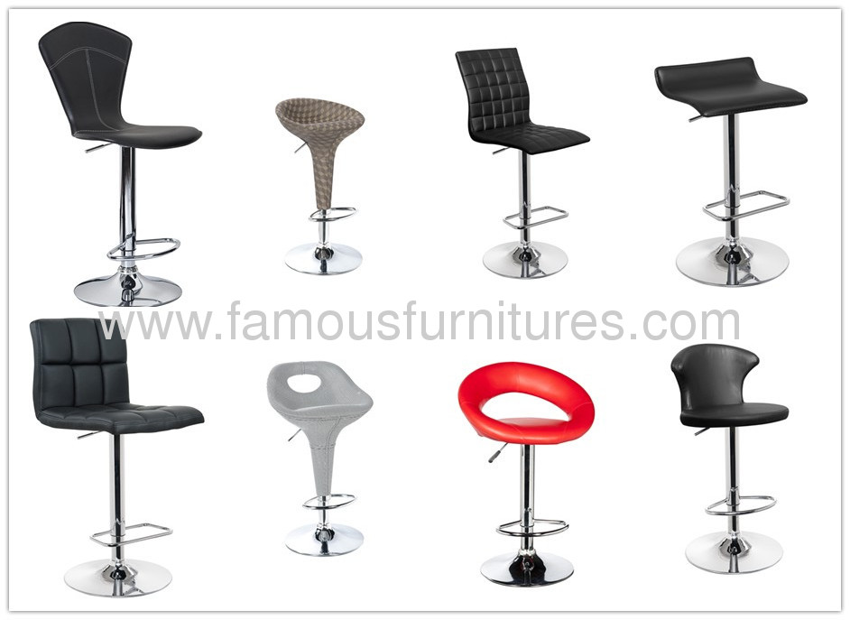black PU Seat and Back Bar Chair