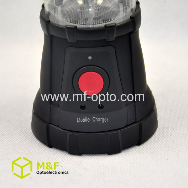 Outdoor dynamo high power led camping lantern with solar panel