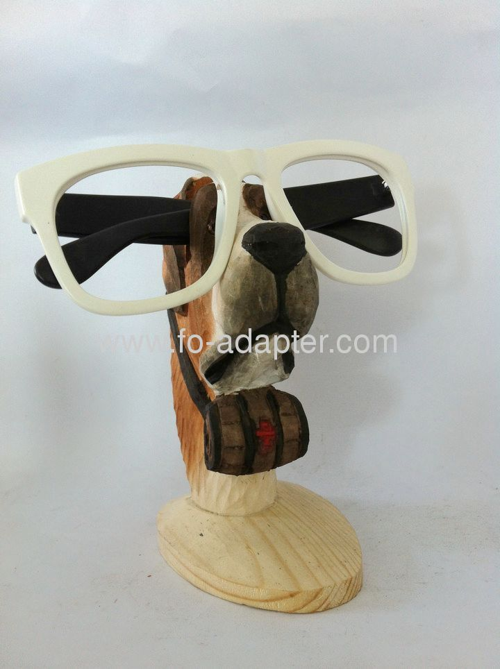 Cute Dog Carved Spectacle Frame