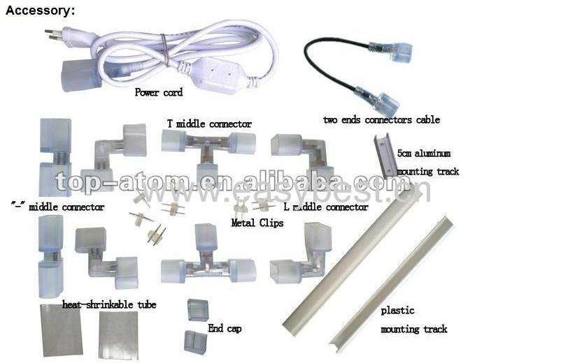 220v input voltage flex neon tube for house decoration