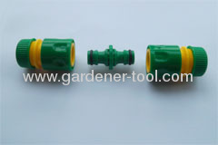 two way hose coulping as extension joint to connecting 2pcs hose of any specification via snap-in quick connector