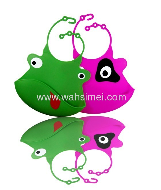Silicone waterproof drool bibs for baby in wholesale