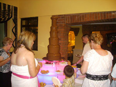 850W chocolate fountain for commercal