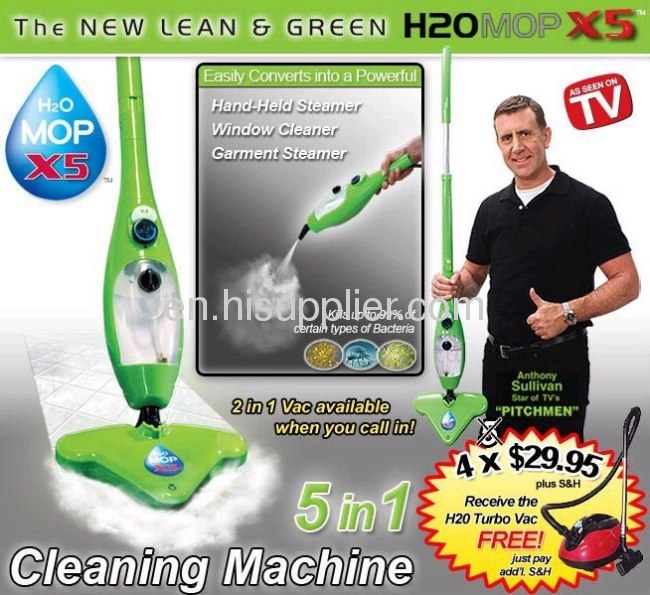 2013 hot sale H2O steam Mop X5-5 In 1 Cleaning Machine/steamer-As Seen on tv