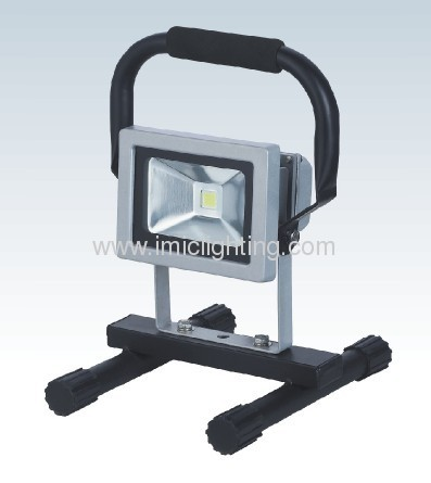 Portable 10W Aluminium LED Flood light IP65 tempered glass