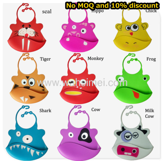Lovely And Hot Custom Silicone Baby Bibs