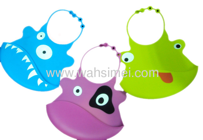 Food Grade Various Animal Design Silicone Baby Bibs