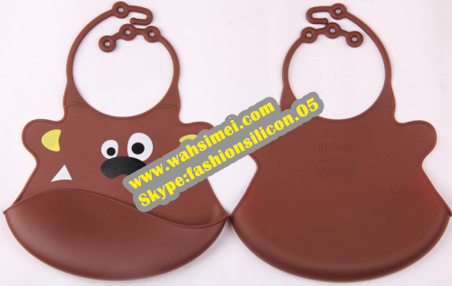 Fashionable And Eco-friendly lovely silicon baby bib