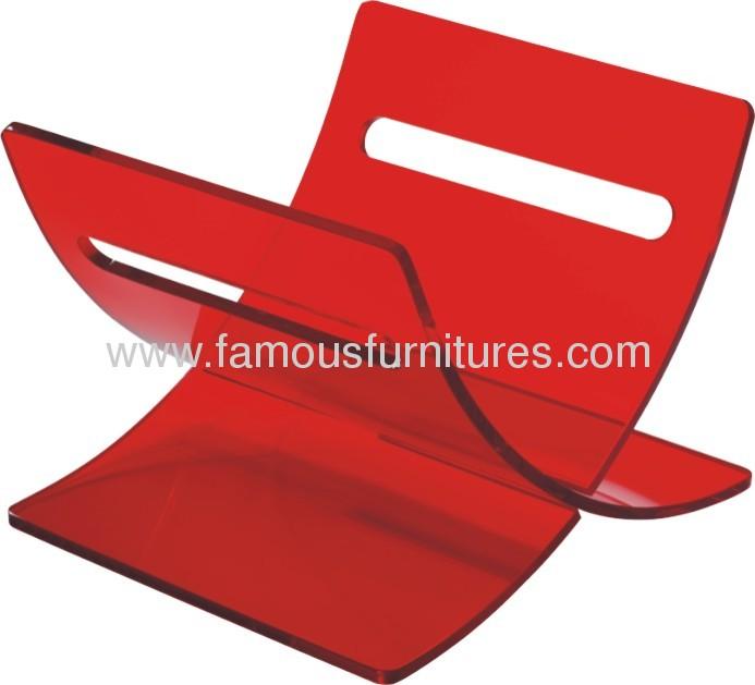 Luxury Crystal Plastic W Shape Book Orginzer Holder magazine stand