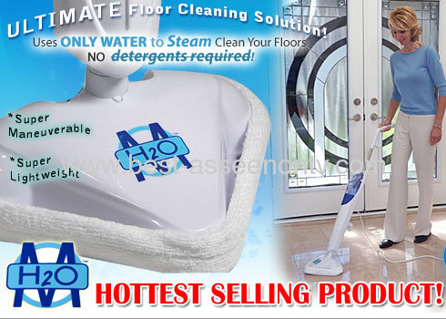 H2O steam mop cleaning machine/steamer as seen on tv