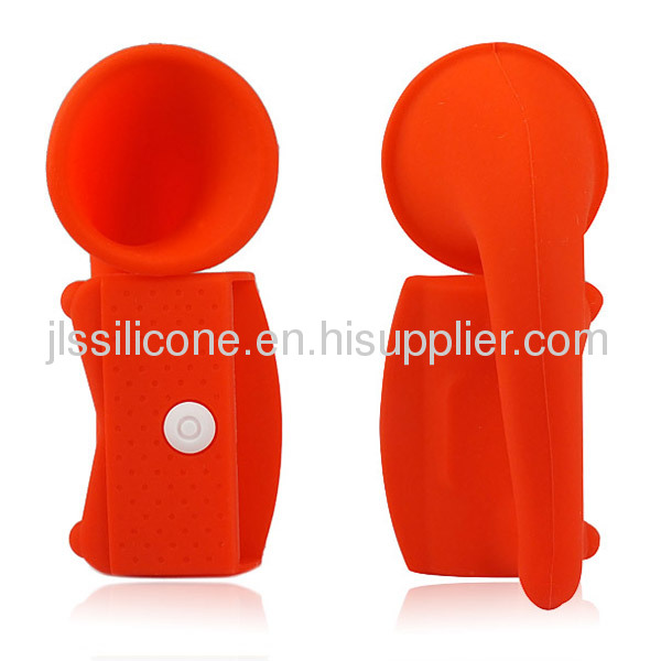 Colors Wireless Rubber Silicone Horn Amplifier Speaker Dock Stand For iPhone 5G