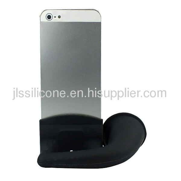Black Cute Portable Silicone Horn Stand Amplifier Speaker For iPhone 4S