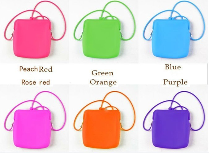2013 Portable cosmetic rubber silicone handbag for women