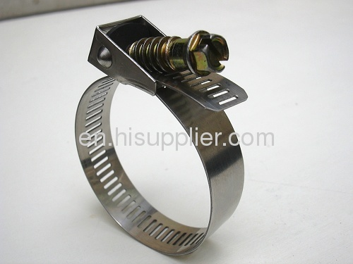 Yellow zinc plated carbon steelb Quick Release Hose Clamps