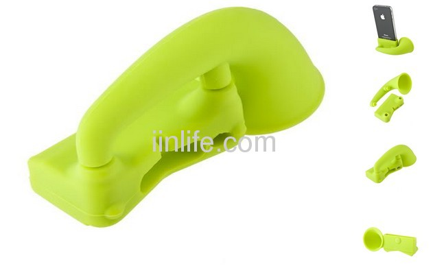 Apple iPhone Speaker for Extra Sound Green Color Silicone china factory