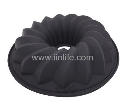 Lekue Silicone Bundt Savarin Cake Pan Baking Mold Dessert Cooking Chef Grey