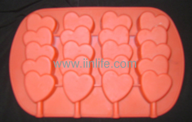 WILTON silicone STACKED HEARTS cake pan or mold for CAKE POPS, CANDY, SOAP