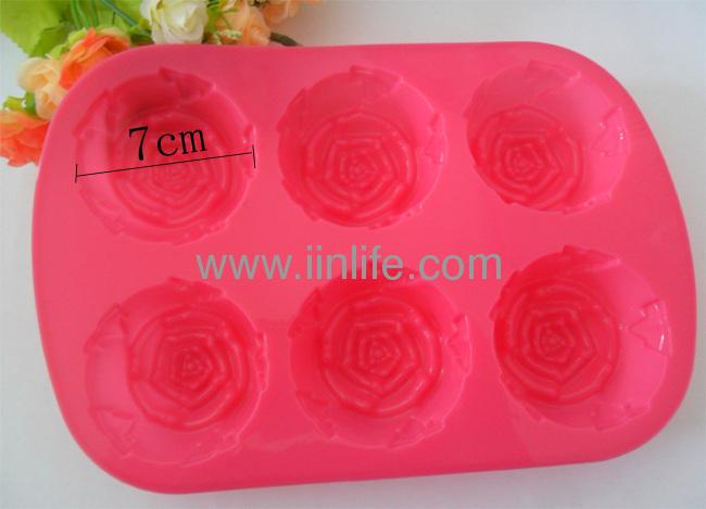 1PCS Rose shape Candy Silicone Mold Baking Trays Fondant Cake Decorating