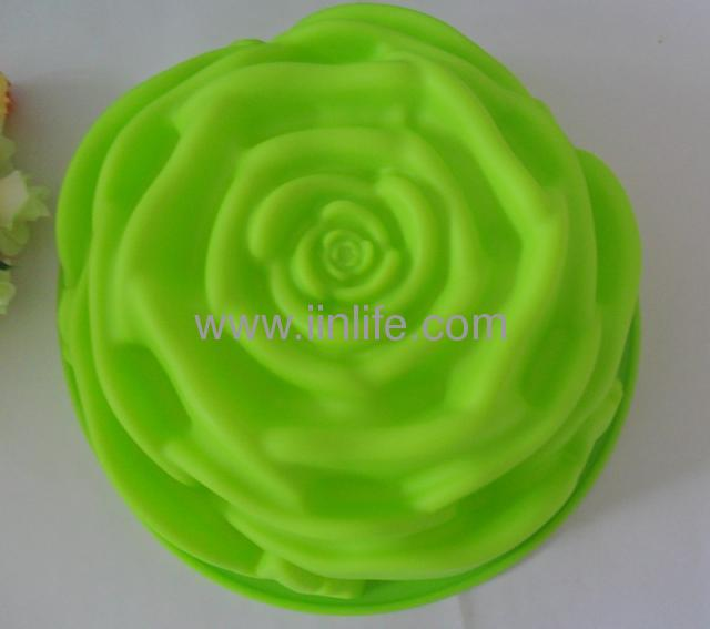 Silicone Rose Flower Shape Bakeware Baking Mold JELLY Cake Pan
