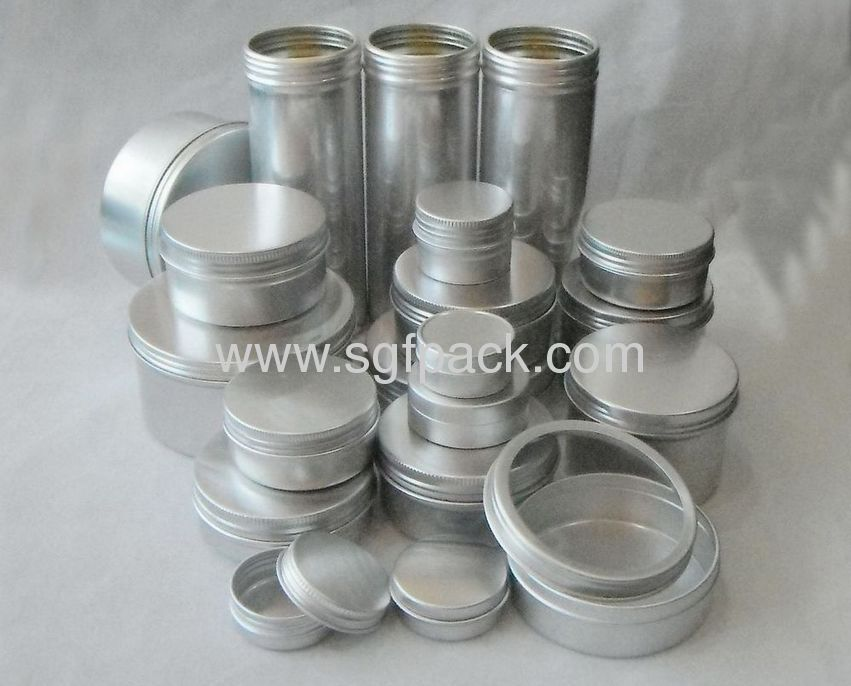 10ml Aluminum case cosmetic package cream jar aluminum tin Jewelry box casket