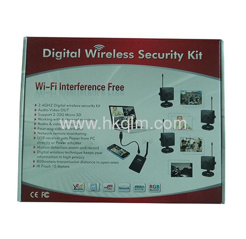 2.4GHz 4 pcs wireless digital cameras with 1pc receiver