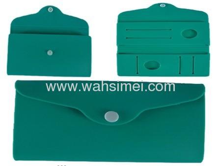 Fashion silicone wallet cosmetic silicon handbags