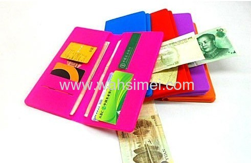 2013 New style silicone wallet for ladies
