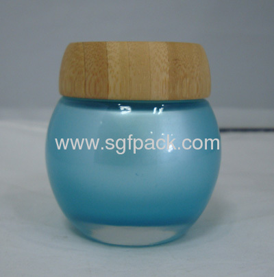 Bamboo cap natural package cosmetic container bamboo container makeup package LCL