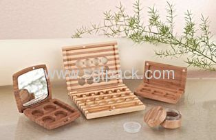 eye shadow powder jarcream jar wooden cosmetic package wooden container
