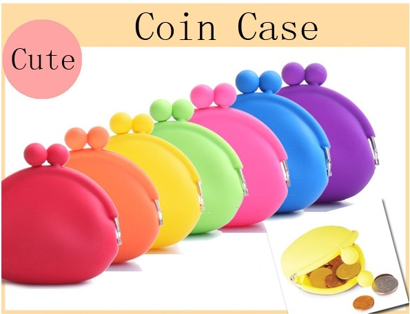 Fashion silicon coin bank purse