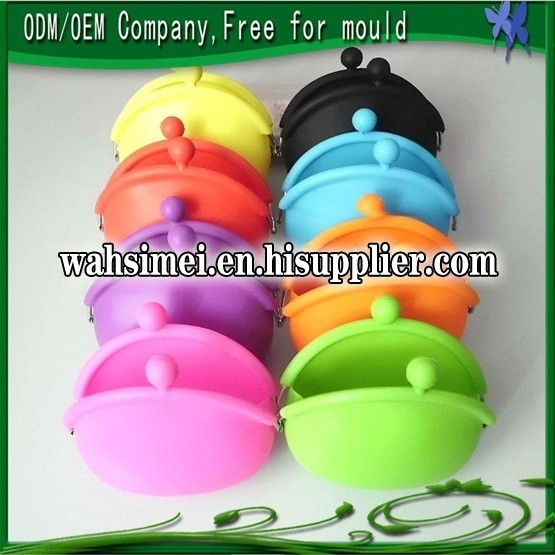 cute candy colors silicone coin bank bag for stylish lady