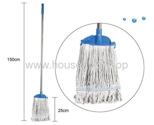 Karanfil Commercial AJM012E Cotton Mop and SS Handle 8 oz 46Length White