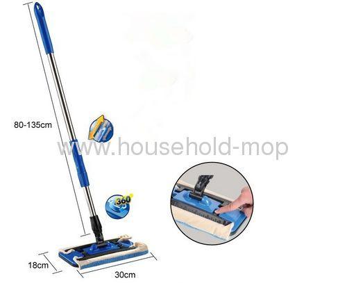 household microfiber wet mop clip dust mop with steel handle
