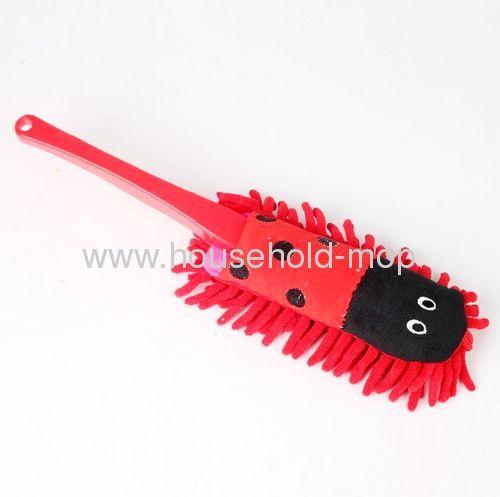 Animal red Chenille Fiber Duster Short pp Handle