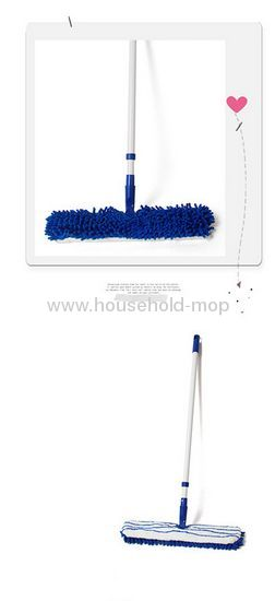 2 in 1 Mop Microfiber and Chenille Double-Sided Home Cleaning Device