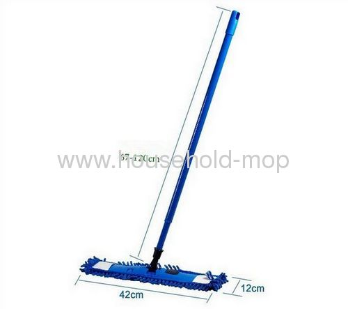 Blue chenille mop with pp handle steel pole
