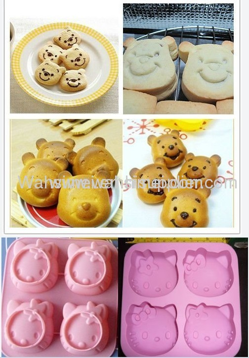 Cute silicon cake mould certified with FDA, SGS